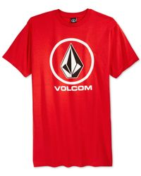 Volcom | Red Circle Stone T-shirt for Men | Lyst