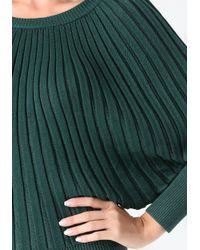 Bebe - Green Metallic Starburst Sweater - Lyst
