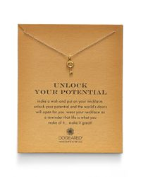 Dogeared | Metallic 'Reminder - Unlock Your Potential' Key Pendant Necklace | Lyst