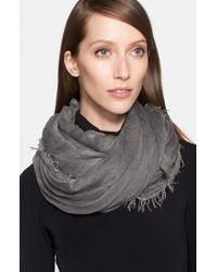 Donna Karan - Gray Modal Silk Blend Scarf - Lyst