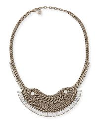 DANNIJO | Metallic Lilith Crystal Chain Necklace | Lyst