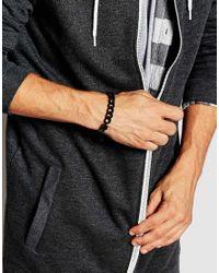 ASOS - Mixed Chain Bracelet In Black for Men - Lyst