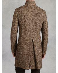 John Varvatos - Brown Donagel Button Front Coat for Men - Lyst