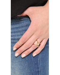 Vita Fede - Metallic Mini Crystal V Ring - Lyst