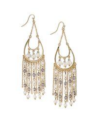 INC International Concepts - Metallic Goldtone Beaded Chandelier Earrings - Lyst