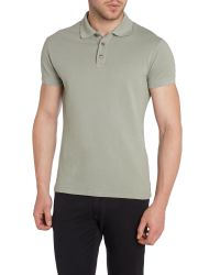 Armani Jeans | Gray Regular Fit Logo Polo Shirt for Men | Lyst