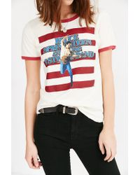 Urban Outfitters | White Music Series Ringer Tee | Lyst