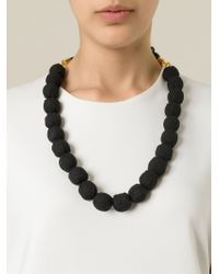Marni | Black Rope Balls Necklace | Lyst