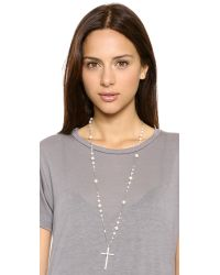 Chan Luu - Cross Necklace  White Pearl - Lyst