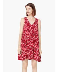 Mango | Red Printed Dress | Lyst