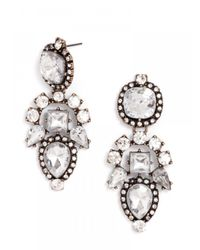 BaubleBar - White Aztec Drops-clear-post_back - Lyst