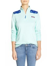 Vineyard Vines Blue 'shep' Whale Embroidered Pullover