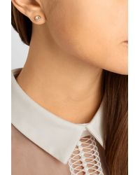 Ryan Storer | Pink Rose Gold-Plated Swarovski Crystal Ear Cuff And Stud Earring | Lyst
