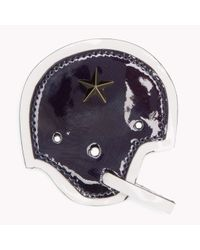 Tommy Hilfiger | Blue Leather Helmet Badge | Lyst