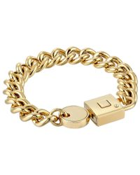 Marc By Marc Jacobs | Metallic Lock-In Statement Bracelet | Lyst
