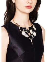 Kate Spade | Metallic Empire Pave Bib Necklace | Lyst