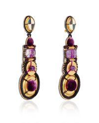 Naeem Khan - Multicolor Amethyst And Mother Of Pearl Chandelier Earrings - Lyst
