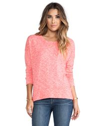 Monrow - Pink Slouchy Sweatshirt in Coral - Lyst
