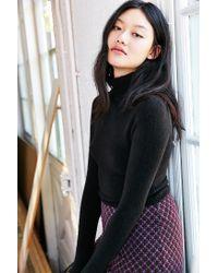 Kimchi Blue - Black Cozy Mock Neck Sweater - Lyst