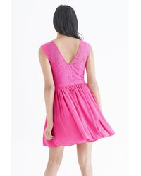 Oasis - Pink Lace Trim Soft Skater - Lyst