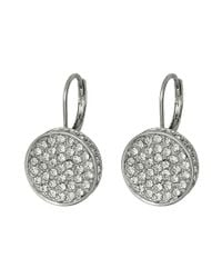 Vince Camuto | Metallic Circle Pave Lever Back Earrings | Lyst