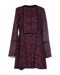 Proenza Schouler - Purple Short Dress - Lyst