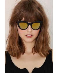 Quay - Black Kitti Shades - Gold Mirrored - Lyst