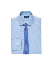 Polo Ralph Lauren | Blue Regent Slim Plaid Cotton Shirt for Men | Lyst