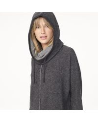 James Perse - Gray Cashmere Hooded Sweatshirt - Lyst