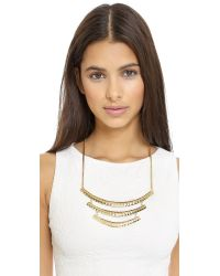 Adia Kibur - Metallic Triple Layer Necklace - Gold - Lyst