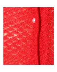 Simone Rocha - Red Embellished Mohair Cardigan - Lyst