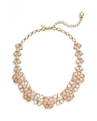 Kate Spade | Metallic Floral Cluster Collar Necklace | Lyst
