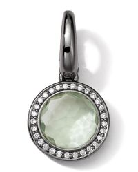 Ippolita | Black Sterling Silver Green Amethyst & Diamond Lollipop Charm | Lyst