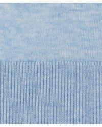John Smedley - Light Blue Cashmere-blend Knit Jumper for Men - Lyst