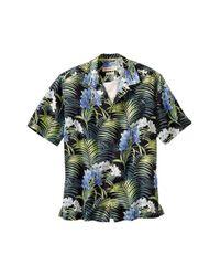 Tommy Bahama Black 'flora Strada' Silk Camp Shirt for men