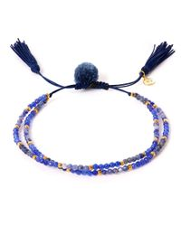 Tai | Blue Pom-pom Stone Beaded Bracelet | Lyst