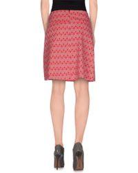 Vero Moda - Pink Knee Length Skirt - Lyst