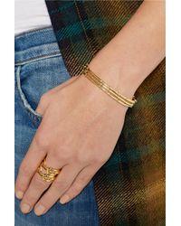 Arme De L'Amour - Metallic Set Of Three Gold-Plated Bracelets - Lyst