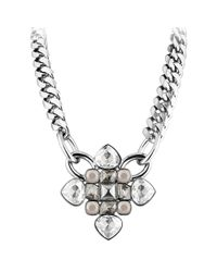 Dyrberg/Kern | Metallic Dyrberg/kern Kebra Swarovski Crystal Necklace | Lyst