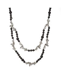 Alexis Bittar Liquid Crystal Two Strand Black Onyx And Lava Bead Necklace You Might Also Like