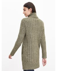 Banana Republic   Green Heritage Shawl-collar Long Cardigan   Lyst