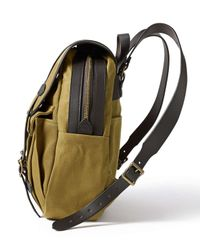 Filson - Green Rucksack With Bridle Leather Straps - Lyst