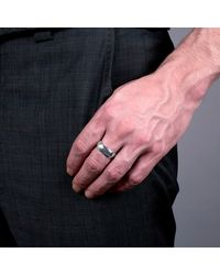 Edge Only | Metallic Silver Squared Off Men's Ring for Men | Lyst