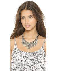 DANNIJO - Metallic Langley Necklace - Silver/Crystal - Lyst