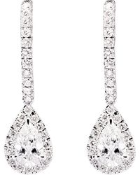 Messika | Metallic Joy 18ct White-gold Pear Drop Diamond Earrings | Lyst