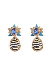 Shourouk - Blue Galaxy Sequins Earrings - Lyst