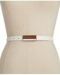 Calvin Klein | White Wood Plaque Belt | Lyst