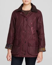"Barbour | Purple ""beadnell"" Jacket 