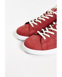 Adidas - Red Originals Stan Smith Nubuck Sneaker for Men - Lyst