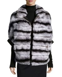 Gorski | Gray Rabbit Fur Zip-Front Jacket | Lyst